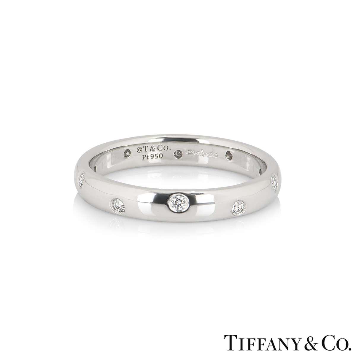 Tiffany & Co. Platinum Etoile Diamond Ring